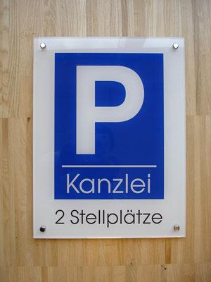 Parkplatzschild aus Plexiglas