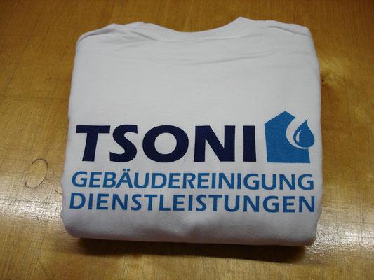 Textildruck 2-farbig auf Sweatshirt