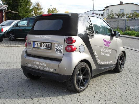 Fahrzeugwerbung mit QR Code