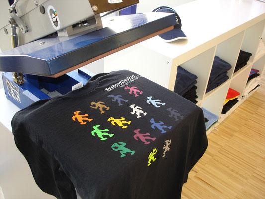 Flexdruck mit Textilpresse