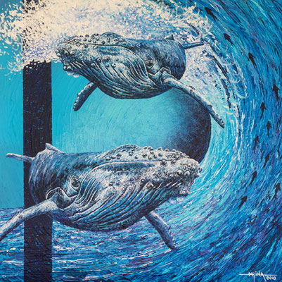 N°34 Danse avec les baleines 50x50 AST