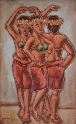 N°7 Les danseuses 79x50 HST Vendu