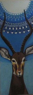 N°2 La gazelle Graziella 80x30 Mixte sur toile