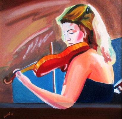 N°15 La violoniste N°889 HST 40X40