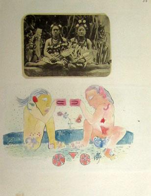 N°31 Femmes et déesses polynésiennes 1926 Reproduction limitée 121/320 30X22,5