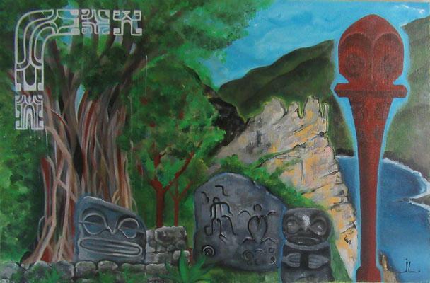 N°5 Nuku Hiva 40x60 Acrylique sur toile