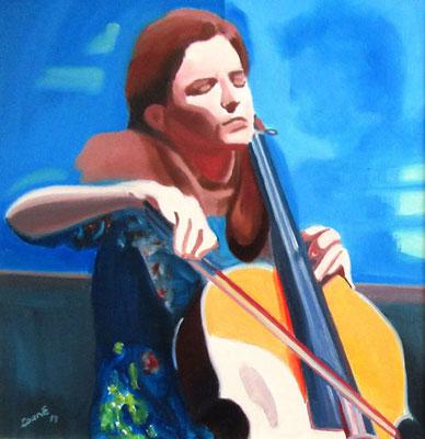 N°14 La violoncelliste N°888 HST 40X40