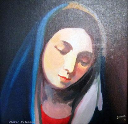 N°28 Maria dolorosa N°873 Hcart 30X30