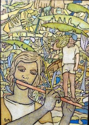 RAVELLO Joueur de flûteN°886 65x46 1974