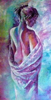 N°11 La femme en bleu 67x36 AST Vendu