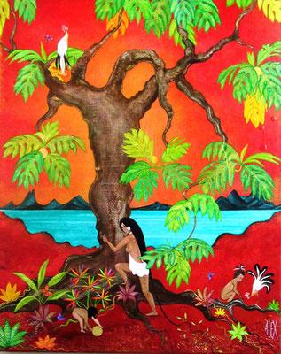 Alex Te faufara'a 81x65 Acrylique sur toile