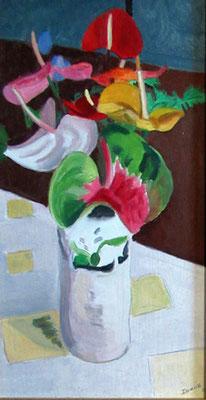 N°19 Vase aux anthuriums N°921 Hpinex 43X24