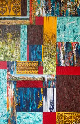 N°4 Patchwork 75x50 Mixte sur toile