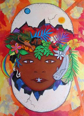 Luria Taaroa 70x50 Acrylique sur toile