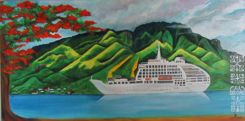 N°15 Tahuata 40,5x80 Acrylique sur toile