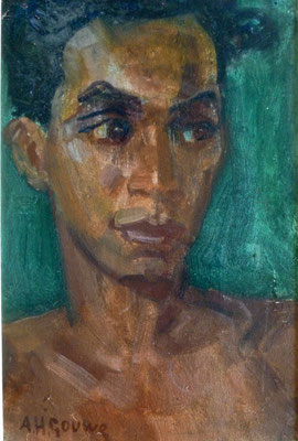 GOUWE Portrait de jeune homme Hpap 32x22