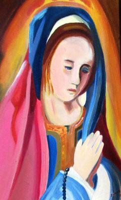 N°27 Vièrge en prière N°872 HST 41X27