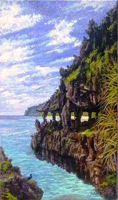 N°25 Grotte de Rurutu 46x27 Huile sur toile