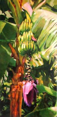 N°341 Fleur de bananier 100x50 Huile sur toile