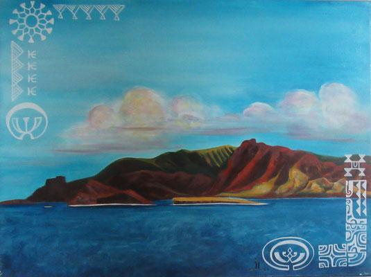 N°23 Ua Huka 61x46 Acrylique sur toile