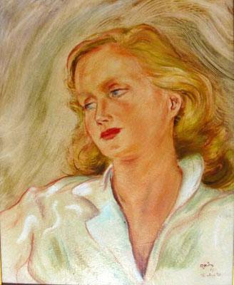 Grès Bouche vermeil Huile 56x46 1957