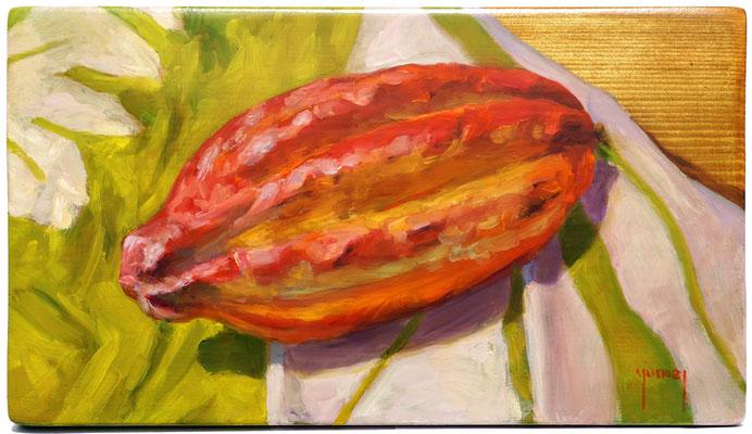N°336 Cacao 18,5x32 Huile sur bois
