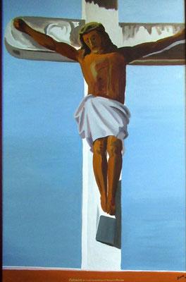 N°1 Jésus à Haapiti N°879 HST 116X73