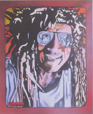 Klod Des idées plein les yeux 65x54 Acrylique sur toile