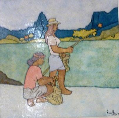 RAVELLO A la pêcheN°2434 60x60 1994