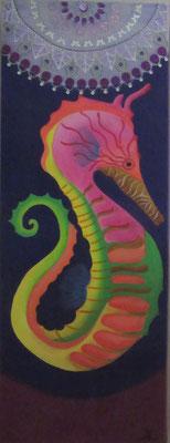 N°27 L'hippocampe Isabella 80x40 Mixte sur toile