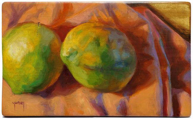 N°332 Mangues 18,5x30 Huile sur bois