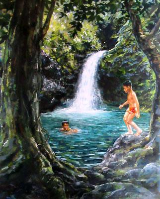 N°5 A la cascade de Faaone 57x44 HST