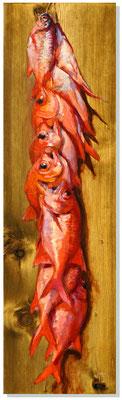 """N°296 """"Tui"""" de poisson frais 1 100x28,5 Huile sur toile"""