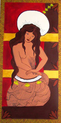 Luria Tahiri paehere 80x40 Acrylique sur toile