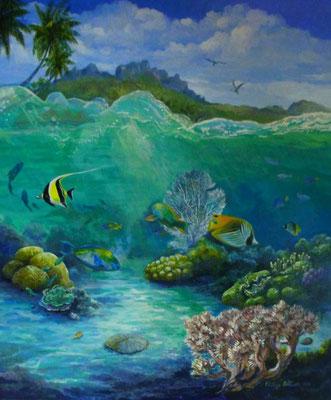 N°3 PELTIER Lagon de Bora Bora 61x51 ACP