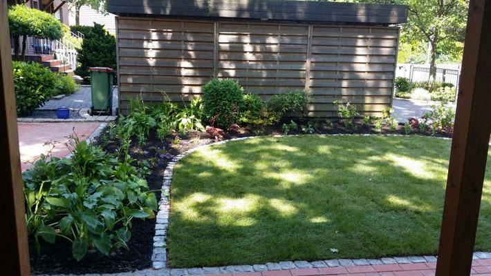 Neugestaltung Beete und Rasen | Garten- und Landschaftsbau Garber