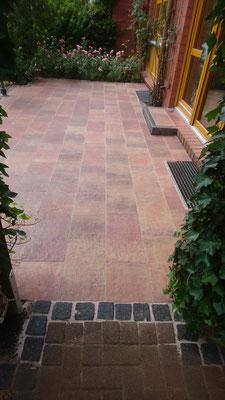 Betonplatten und Granitpflaster | Garten- und Landschaftsbau Garber