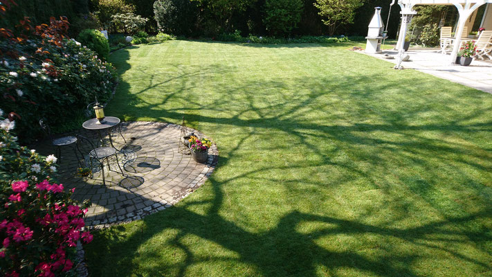 Rollrasen fertig verlegt | Garten- und Landschaftsbau Garber
