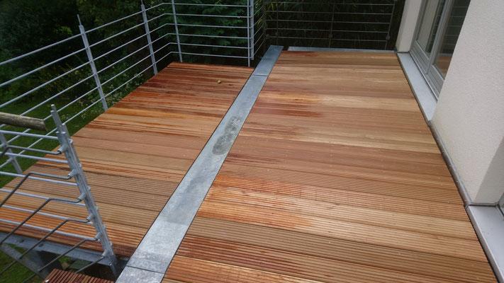 Balkon mit Bangkirai | Garten- und Landschaftsbau Garber