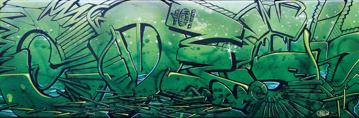 Sylvert, 60cm*20cm - Odeg - Aérosol et Stylo Peinture - Odeg - 2014