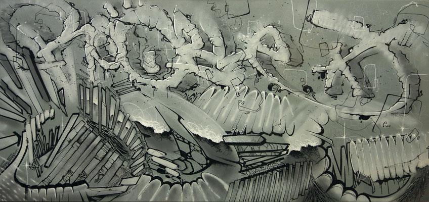 Phaze - ROOBLE et ODEG - 0cm*0cm - Aérosol et stylo peinture - 2012