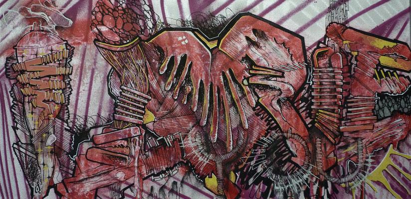 I love you - ODEG - 60cm*30cm - Aérosol et Stylo Peinture - 2013