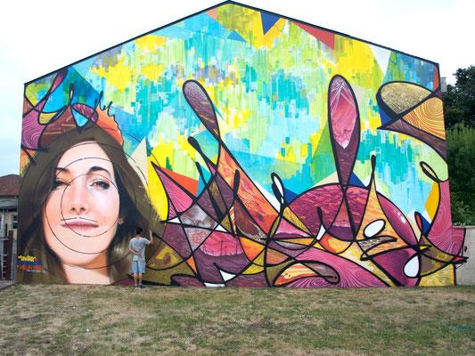 """""""jeu d'enfants"""" Projet HLM Hors Les Murs Ambares Roble Charl Odeg, Transfert6 12X9 m 2016"""