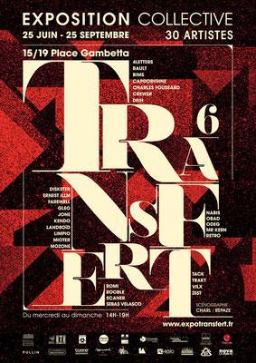 Affiche de l'exposition Transfert6 par Charl.