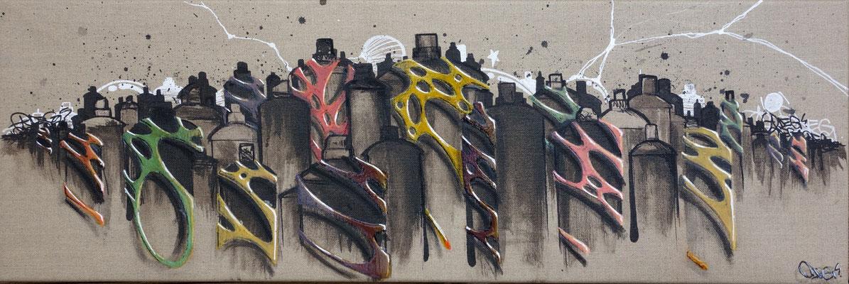 ODEG CITY - ODEG - 90cm*30cm - Aérosol - 2012