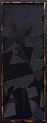 SHINING 3 - 190X70 cm - Placage sur bois et dorure cuivre -Odeg - 2016