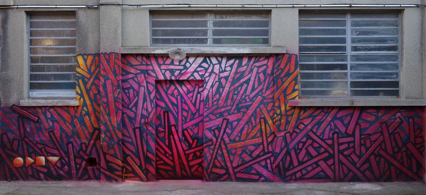 Façade de L'Antifactory, Ivry/seine 2017