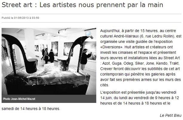 Le Petit Bleu - 1er Juin 2013