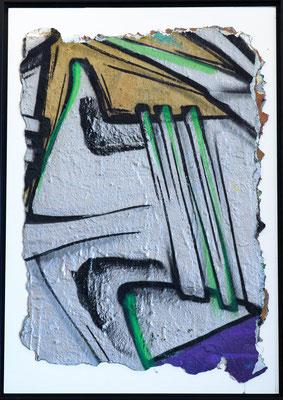 Peau de bunker - ODEG - 100cm*85cm - Peinture et prélèvement - 2012