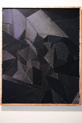 SHILLING 1 - 92 x 72 cm- Placage sur bois et dorure cuivre - Odeg - 2016